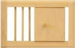Вентиляционная решетка с задвижкой средняя