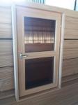 Оконный блок сосна 1000х600х100мм темное двойное стекло